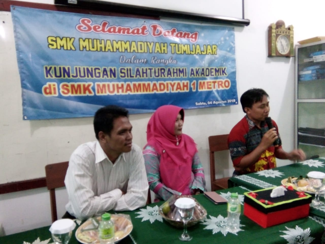 SMK Muhammadiyah 1 Metro Terima Kunjungan SMK Muhammadiyah Tumijajar