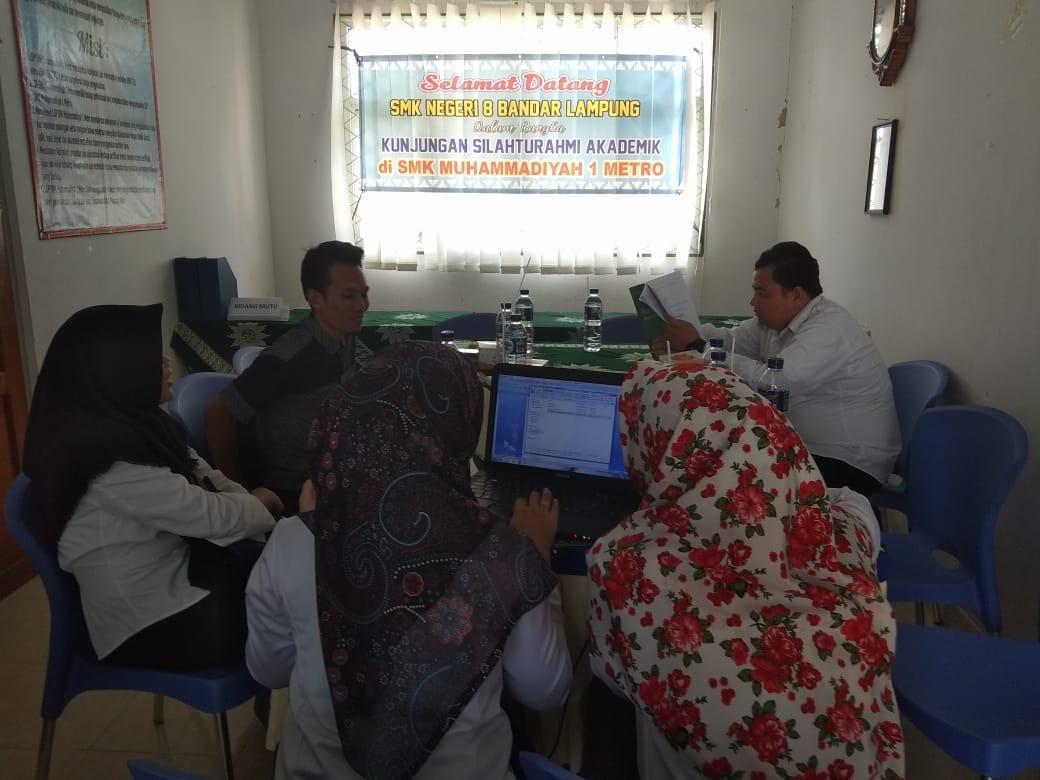 SMK Muhammadiyah 1 Metro Terima Kunjungan SMK N 8 Bandar Lampung