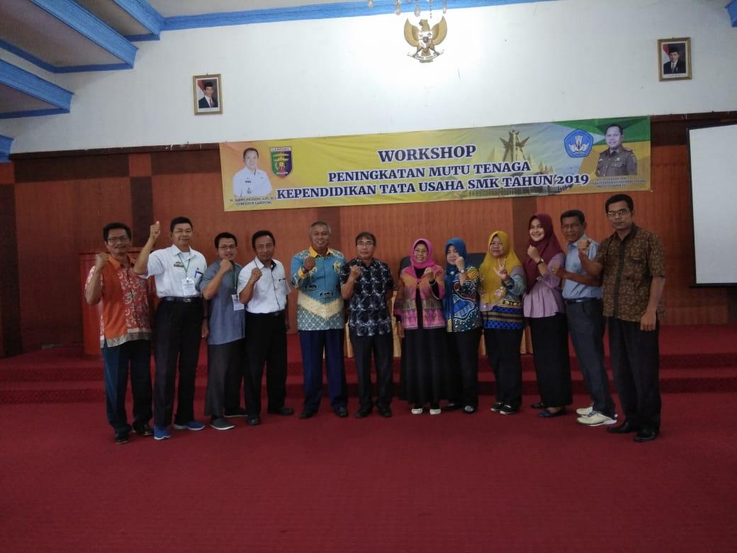 Workshop Peningkatan Mutu Tenaga Kependidikan Tata Usaha SMK Tahun 2019