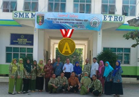 Status Akreditasi SMK Muhammadiyah 1 Metro Meningkat