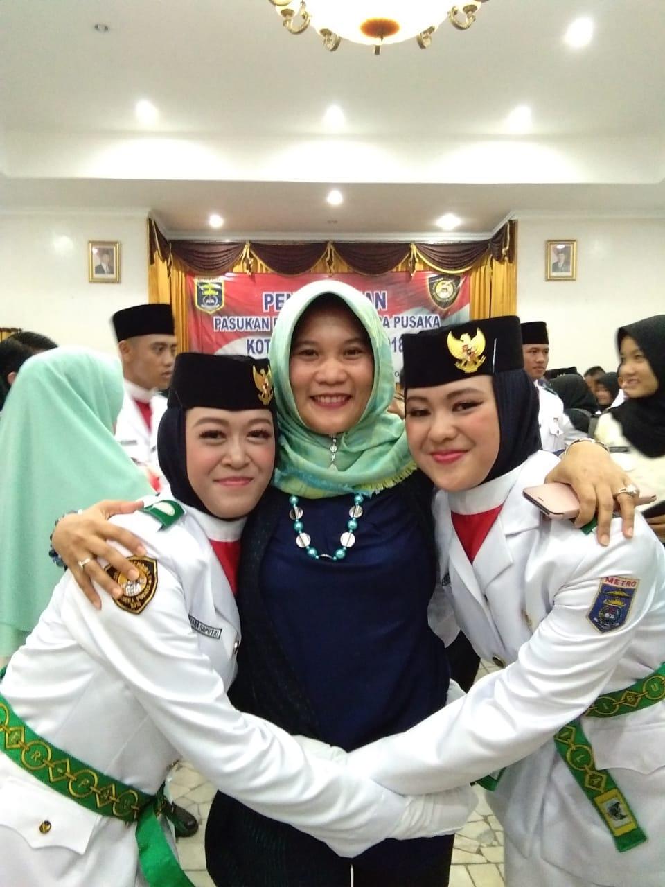 Dua Siswi SMK Mutu Jadi Paskibra Kota Metro