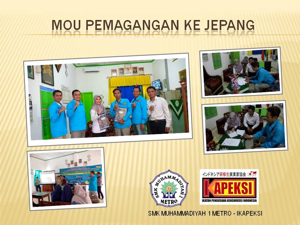 SMK Muhammadiyah 1 Metro Jalin Kerjasama Pemagangan ke Jepang