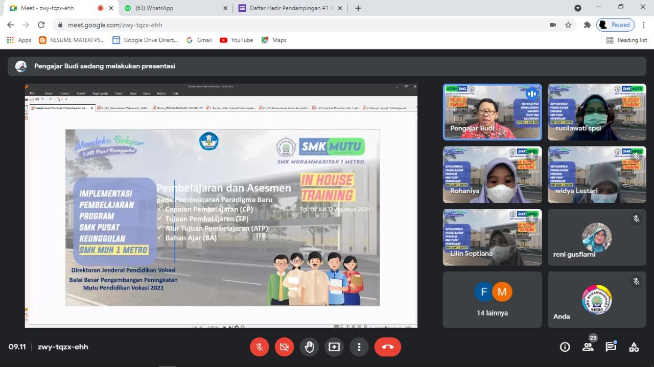 IHT Implementasi Pembelajaran SMK Pusat Keunggulan